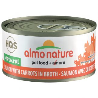 ALMO SALMON WITH CARROTS CANNED CAT FOOD 70G